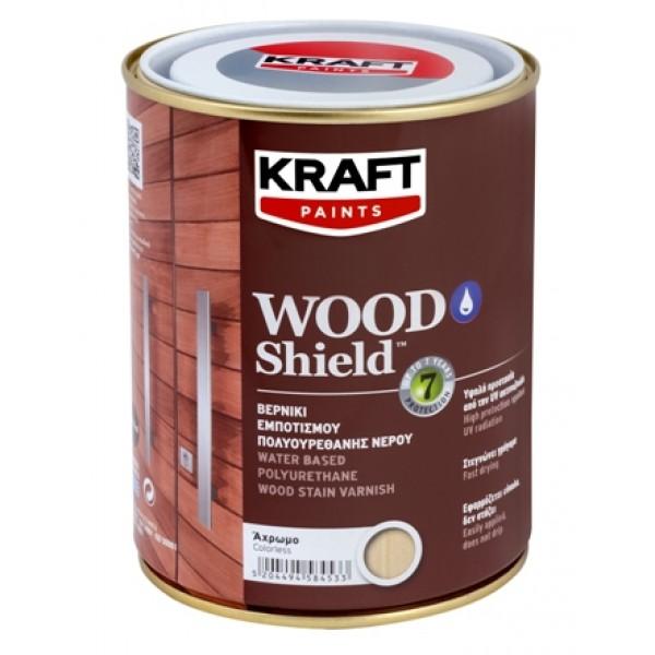 KRAFT WOOD SHIELD 0.75L ΒΕΡΝΙΚΙ ΕΜΠΟΤΙΣΜΟΥ ΠΟΛΥΟΥΡΕΘΑΝΗΣ ΝΕΡΟΥ