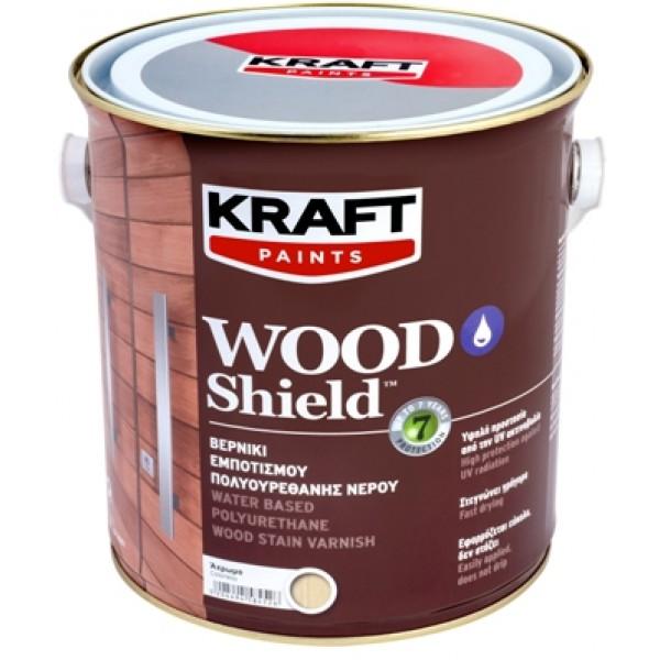 KRAFT WOOD SHIELD 2.5L ΒΕΡΝΙΚΙ ΕΜΠΟΤΙΣΜΟΥ ΠΟΛΥΟΥΡΕΘΑΝΗΣ ΝΕΡΟΥ