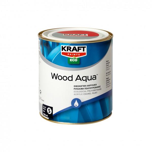 KRAFT WOOD AQUA GLOSS ΛΕΥΚΟ 0.75L